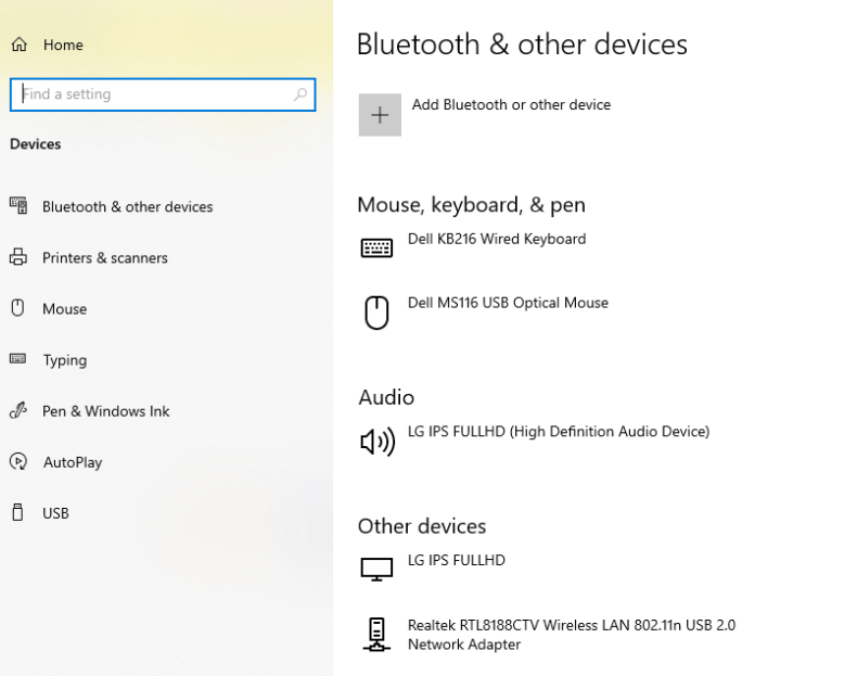 bluetooth and other devices