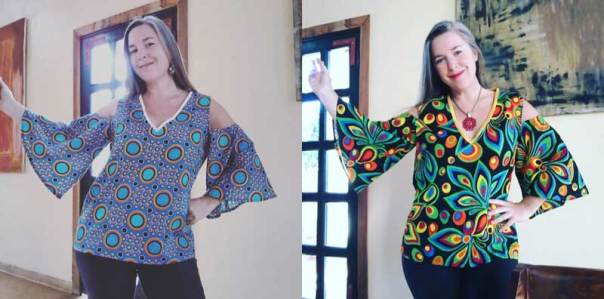 African Waxprint Cold Shoulder top