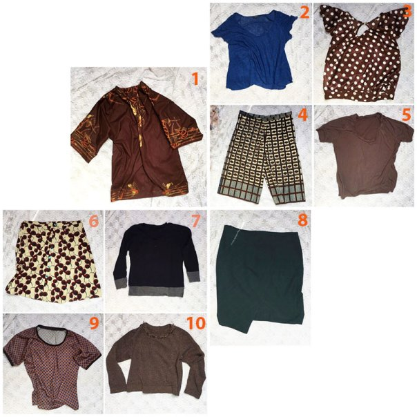 Blue & Brown capsule wardrobe