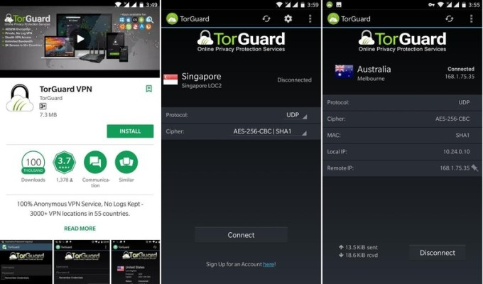 TorGuard Android App