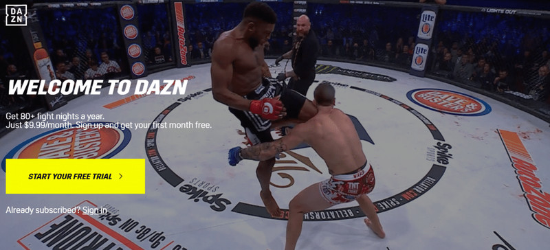 Stream Bellator 220 Outside US with VPN