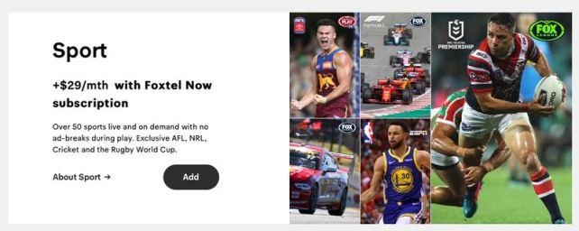 Foxtel Now Sport