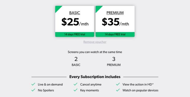 Kayo Subscription
