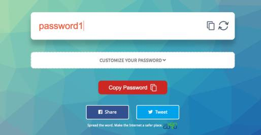 Light red password
