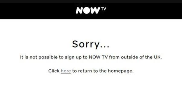 Now TV Geo-Error Message