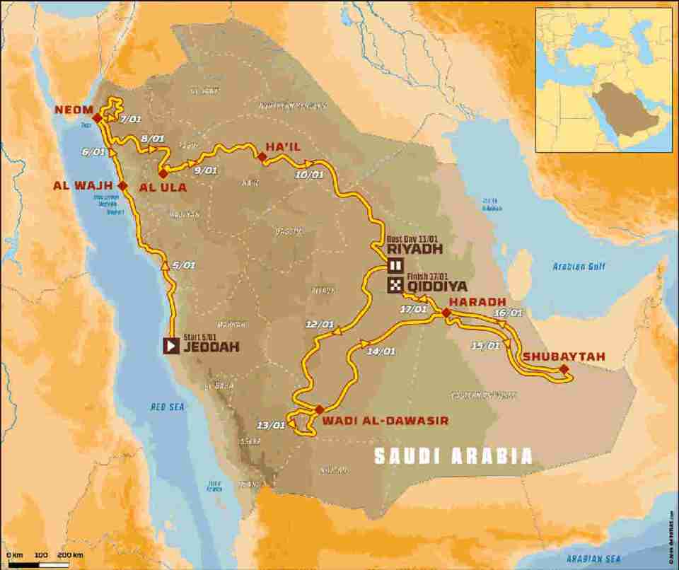 Rally Dakar 2020 Route