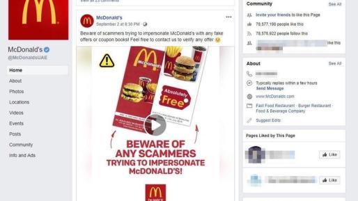 McDonald's Warning