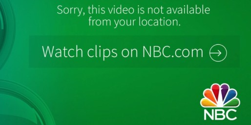 NBC Error Message
