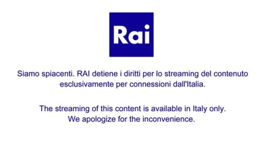 Rai Play Error Message