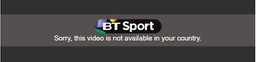 BT Sport Location Error