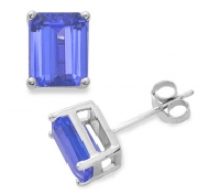 Pair Of Tanzanite Studs