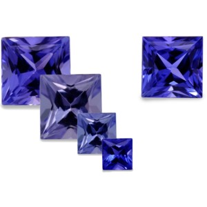 tanzanite cushion cut ring