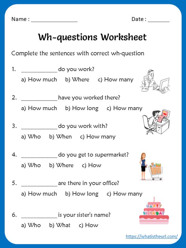 wh-question-worksheets - Your Home Teacher
