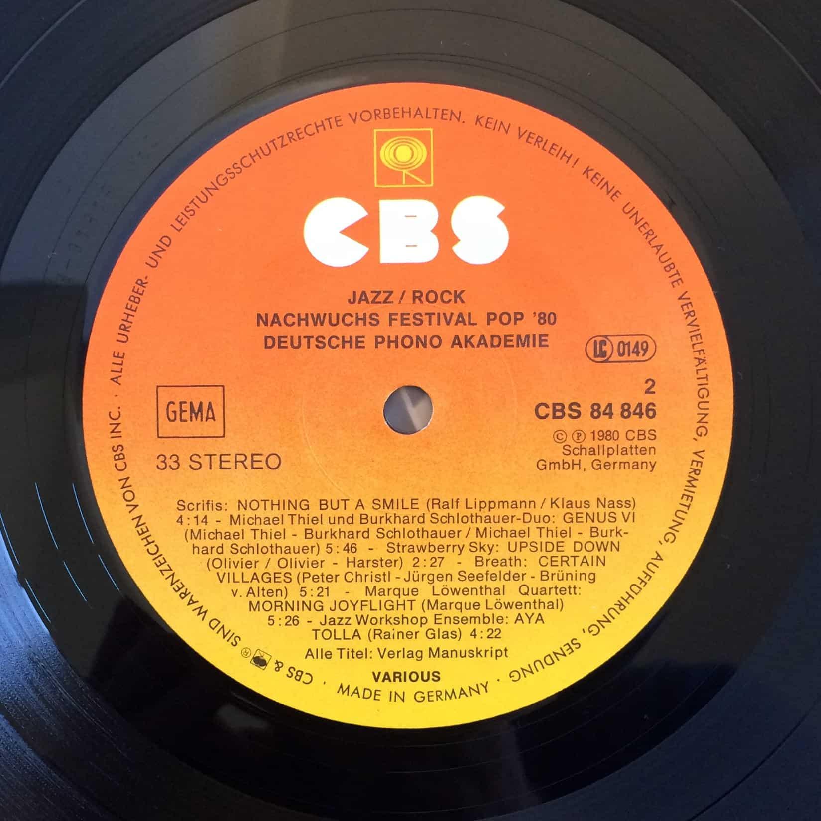 Jazz, Rock - Nachwuchs Festival Pop '80