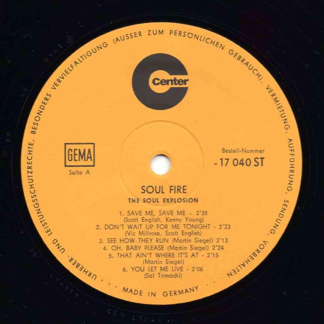 The Soul Explosion – Soul Fire SIDE A 1968 Center – 17040 ST