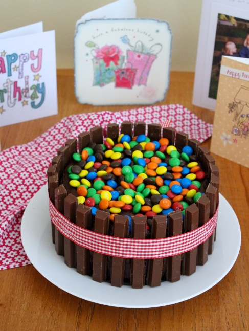Groovy Mm Kit Kat Double Chocolate Cake What Jessica Baked Next Personalised Birthday Cards Veneteletsinfo