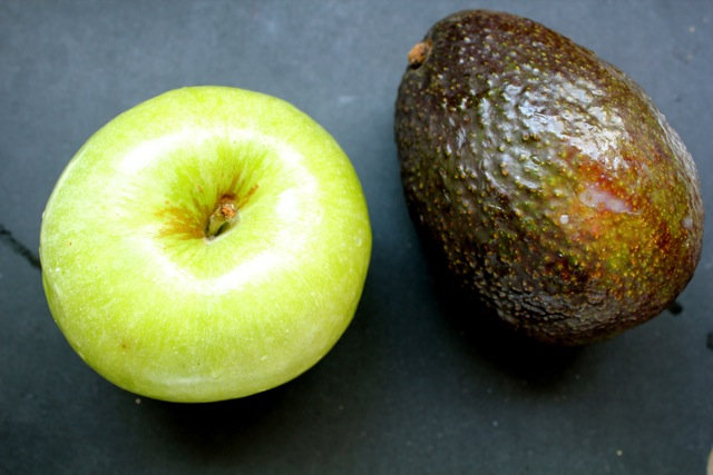 avocado, apple