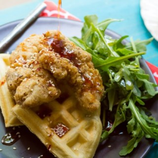 Middle Eastern Chicken and Waffles