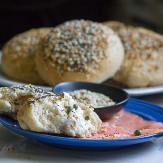 Lox + Schmear Stuffed Everything Bagels