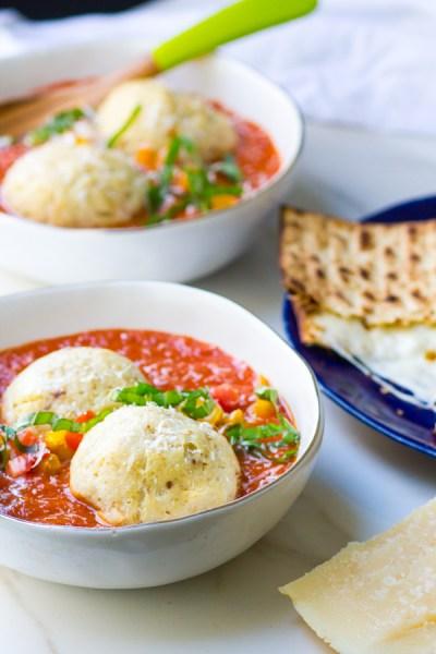 Matzo Ball Tomato Soup