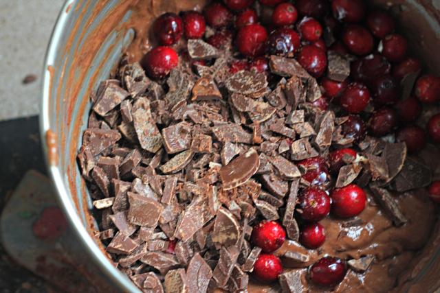 Chocolate-Cranberry-Cake-with-Gelt-Glaze