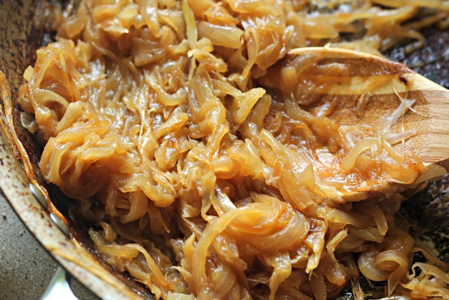 Caramelized Onion Sriracha Potato Kugel