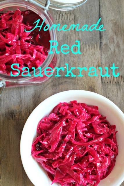 homemade red sauerkraut