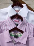 Ironed collars aren't squashed when cascaded