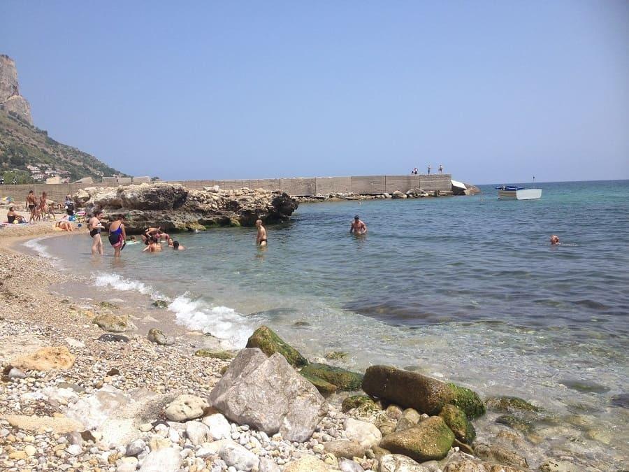 Local beach in Palermo