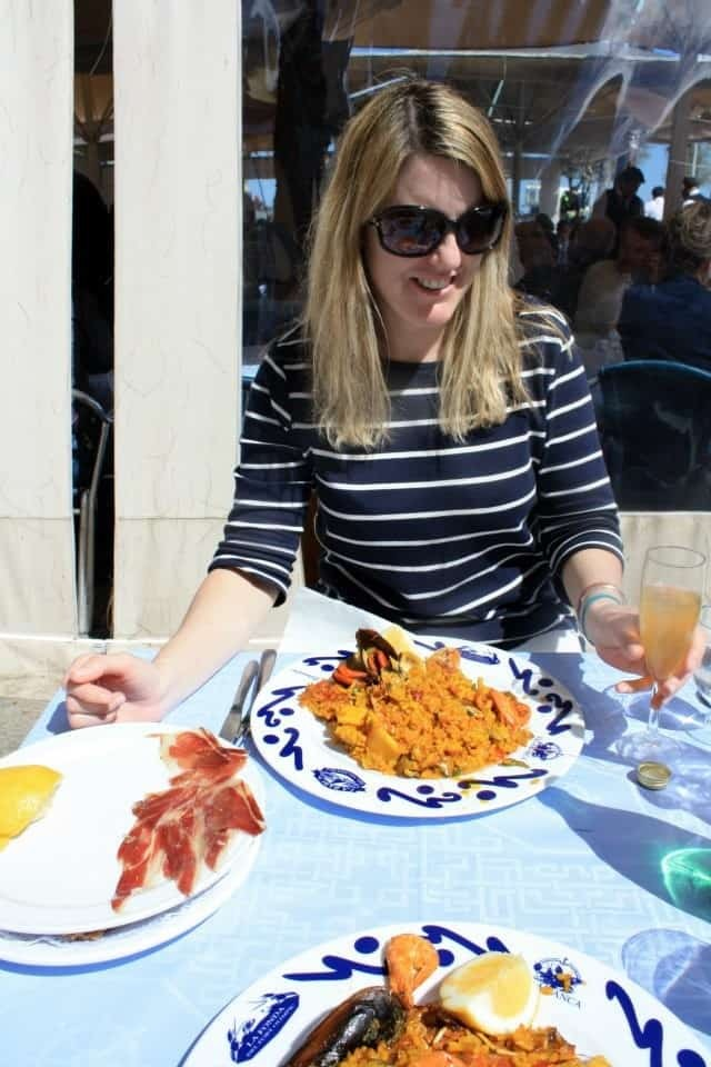 Paella on the beach