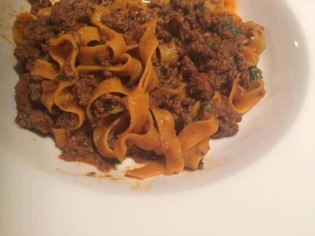 Tagliatelle with beef ragù