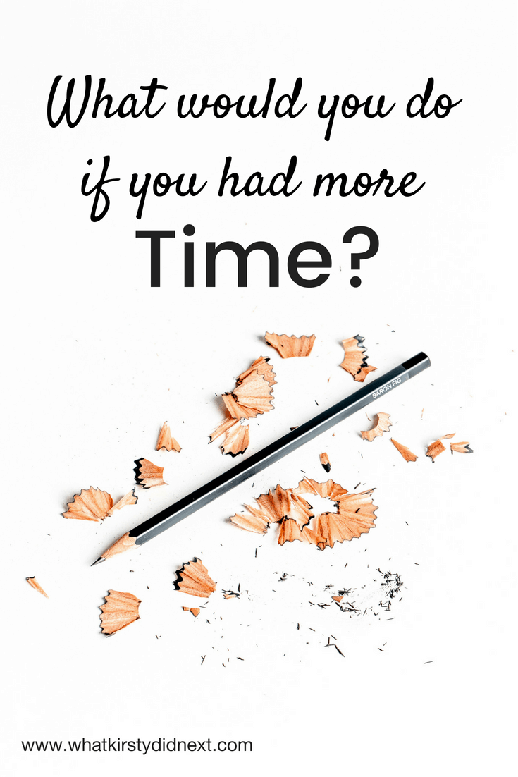 What would you do if you had more time?