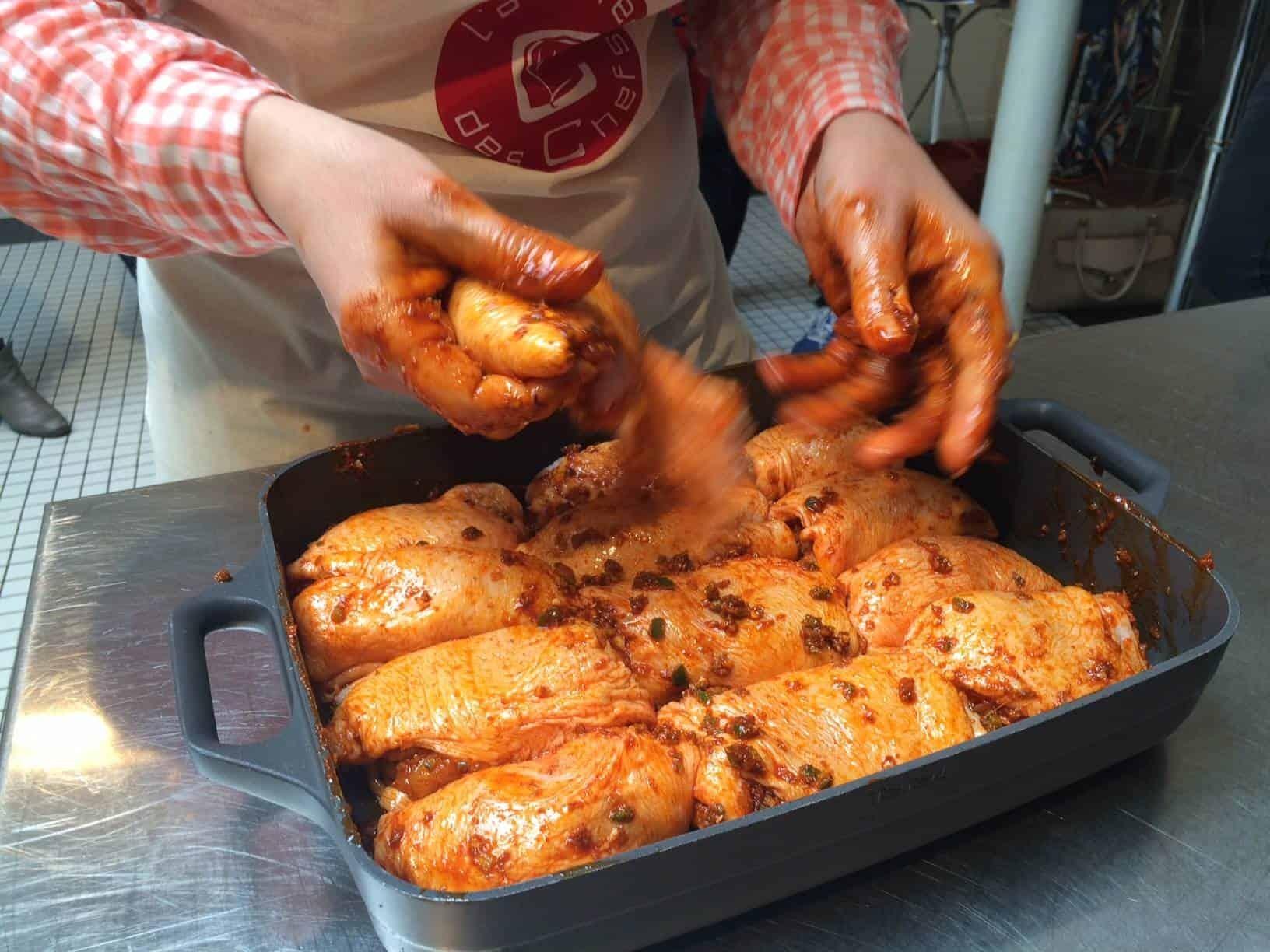 Chicken marinade for shawarmas