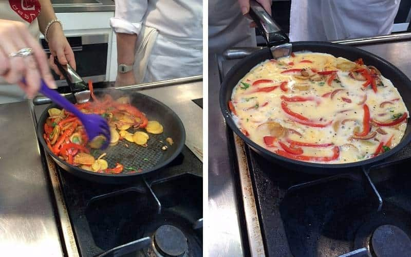 Frittata cooking