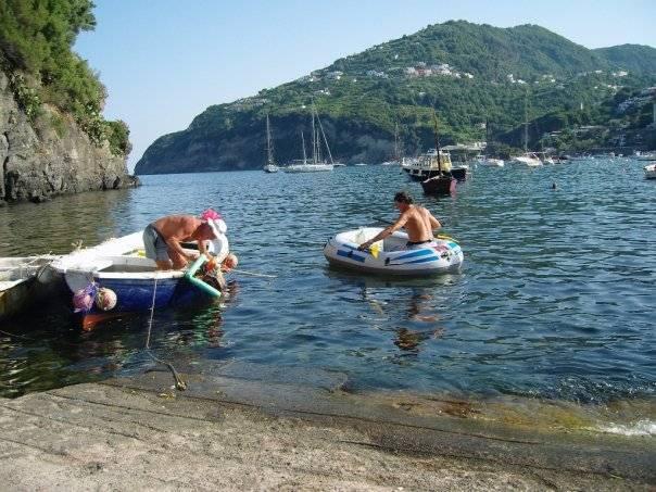 Swimming spot in Ischia