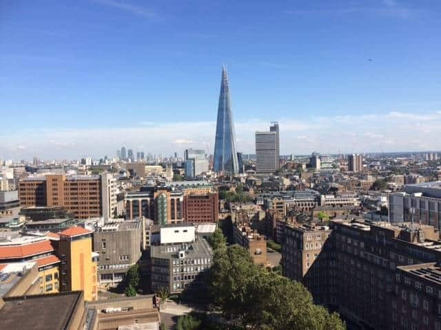 Views from the viewing platform at Switch House