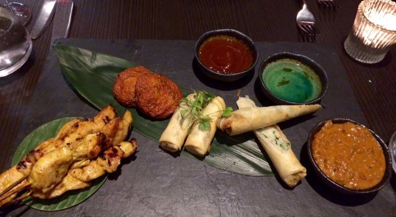 mango tree starter platter for two