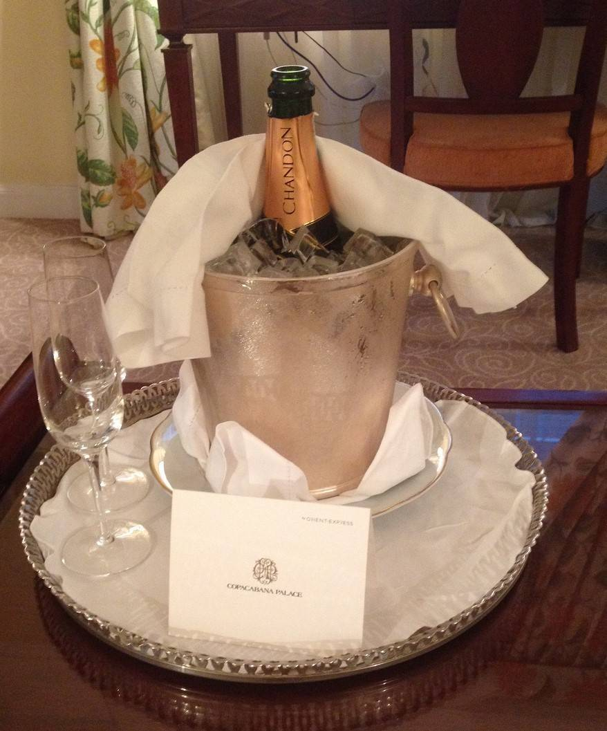 Copacabana Palace champagne on ice