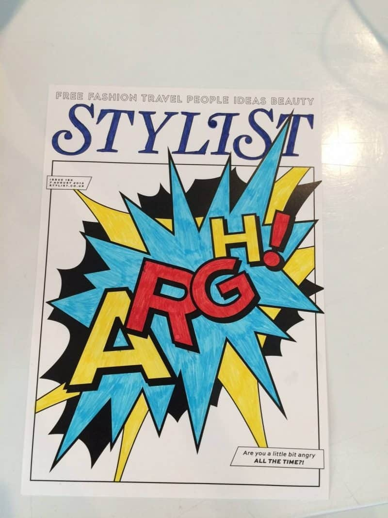 Colouring in a Stylist cover