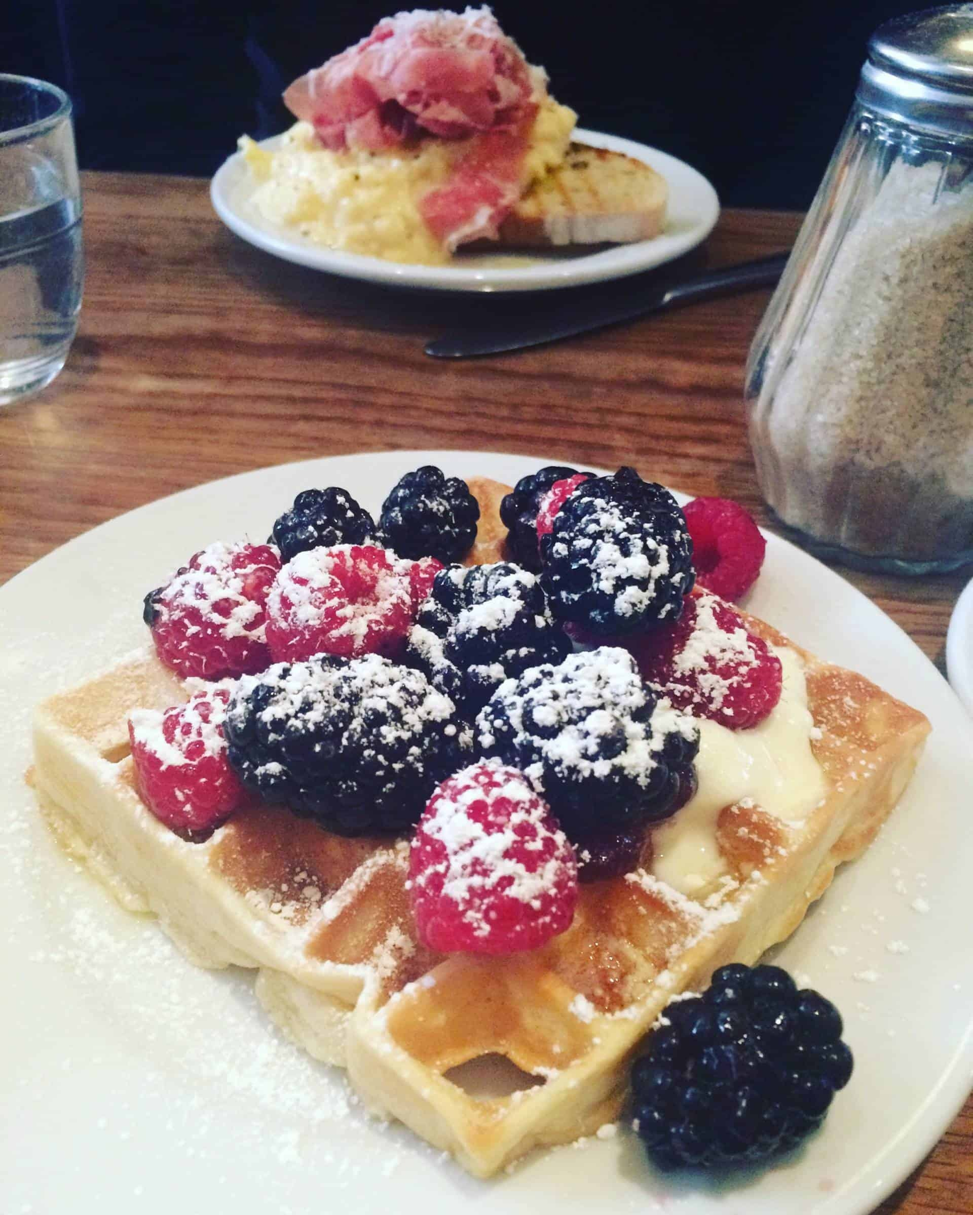 Breakfast waffles at Buvette in New York