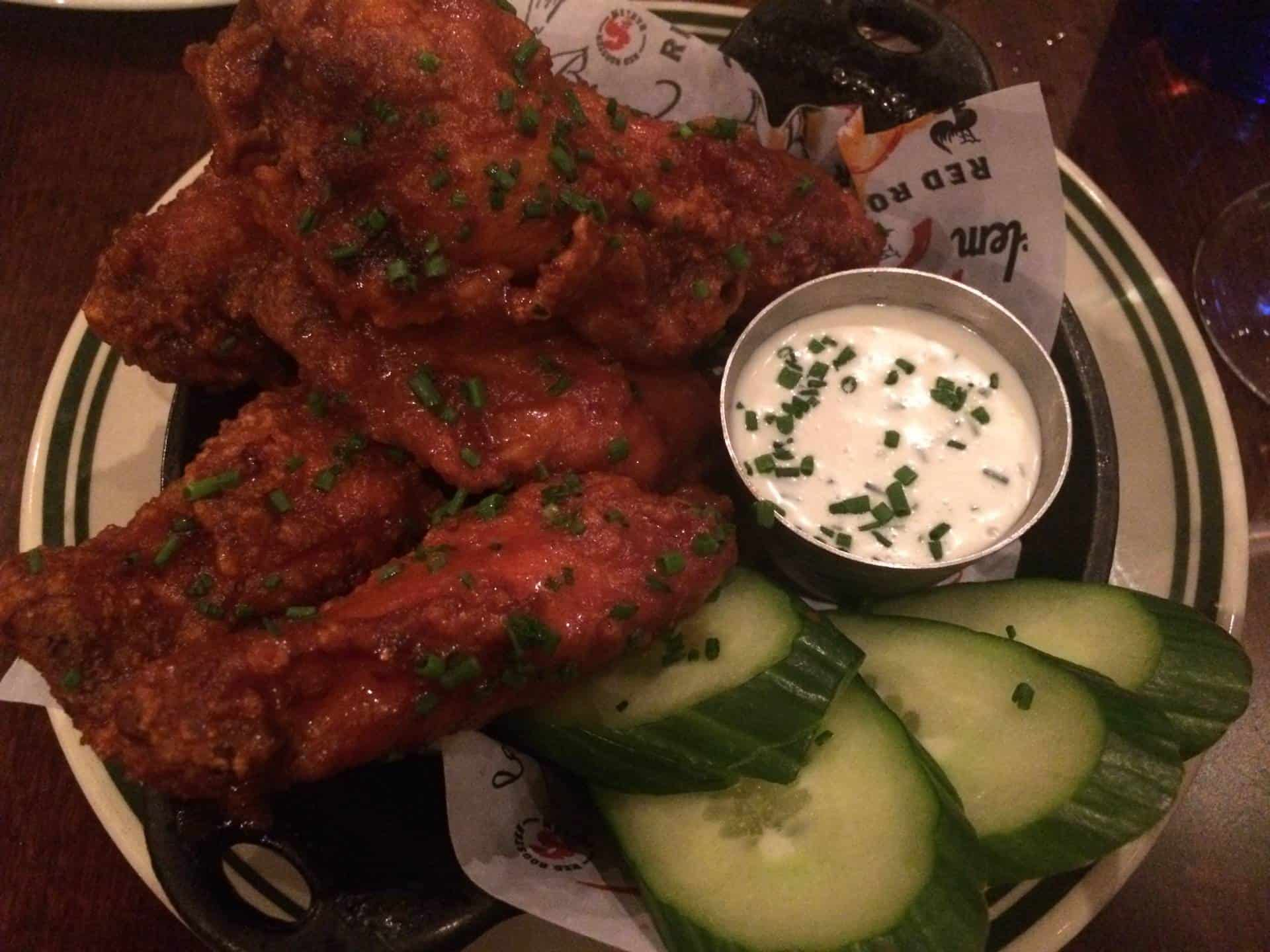 Chicken wings at Red Rooster in Harlem