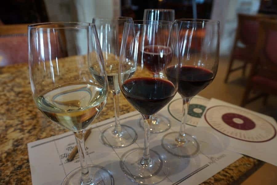 Wine tasting aboard the Ventura