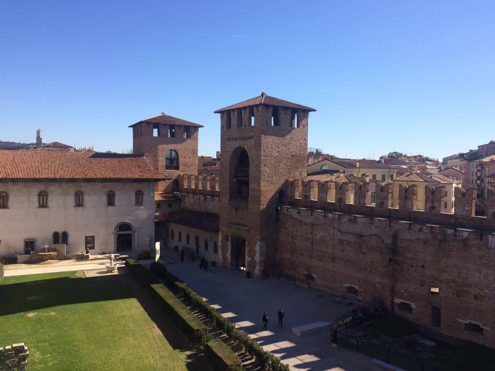 View of Castlevecchio in Verona