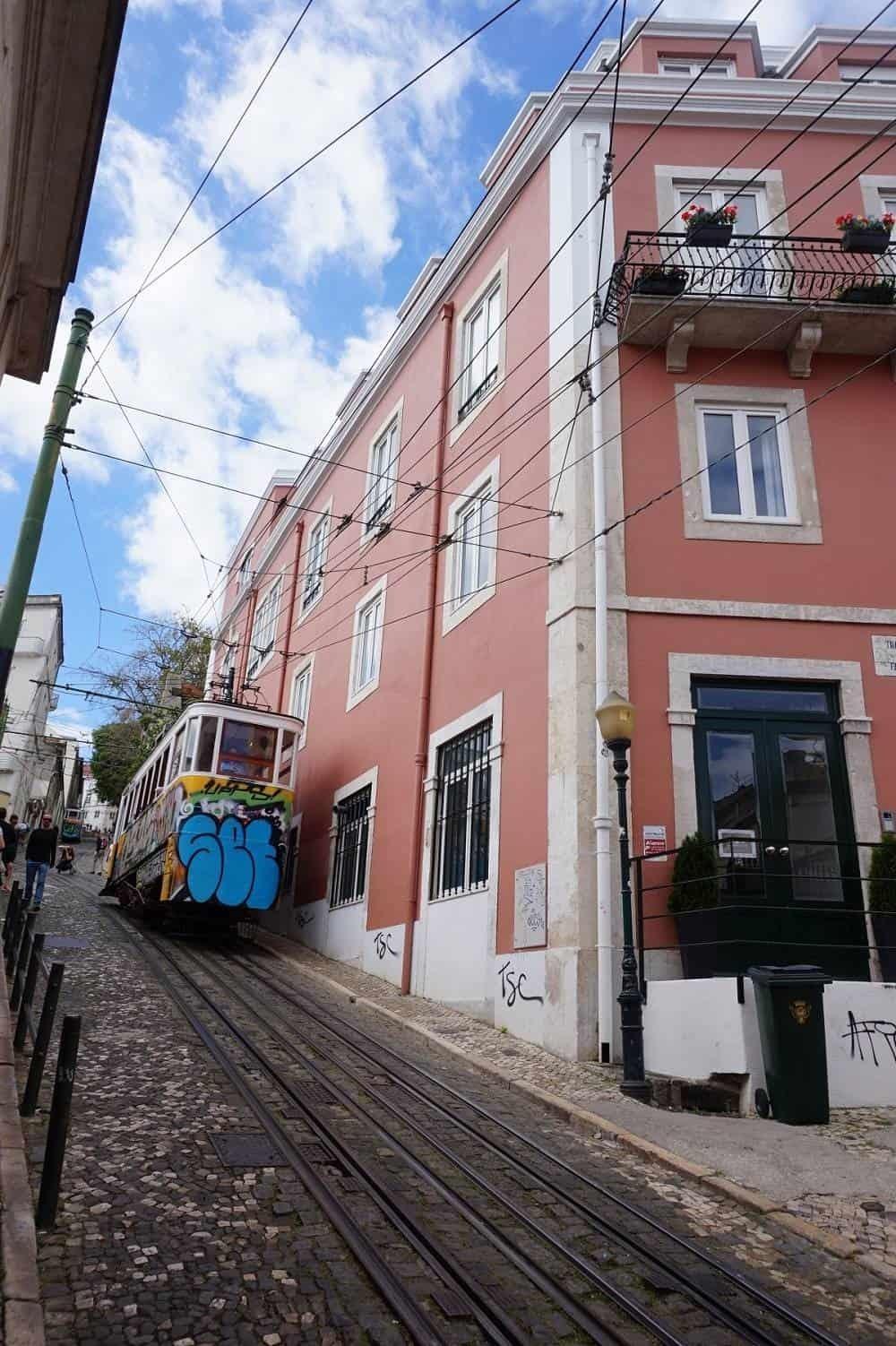 Elevador da Gloria in Barrio Alto