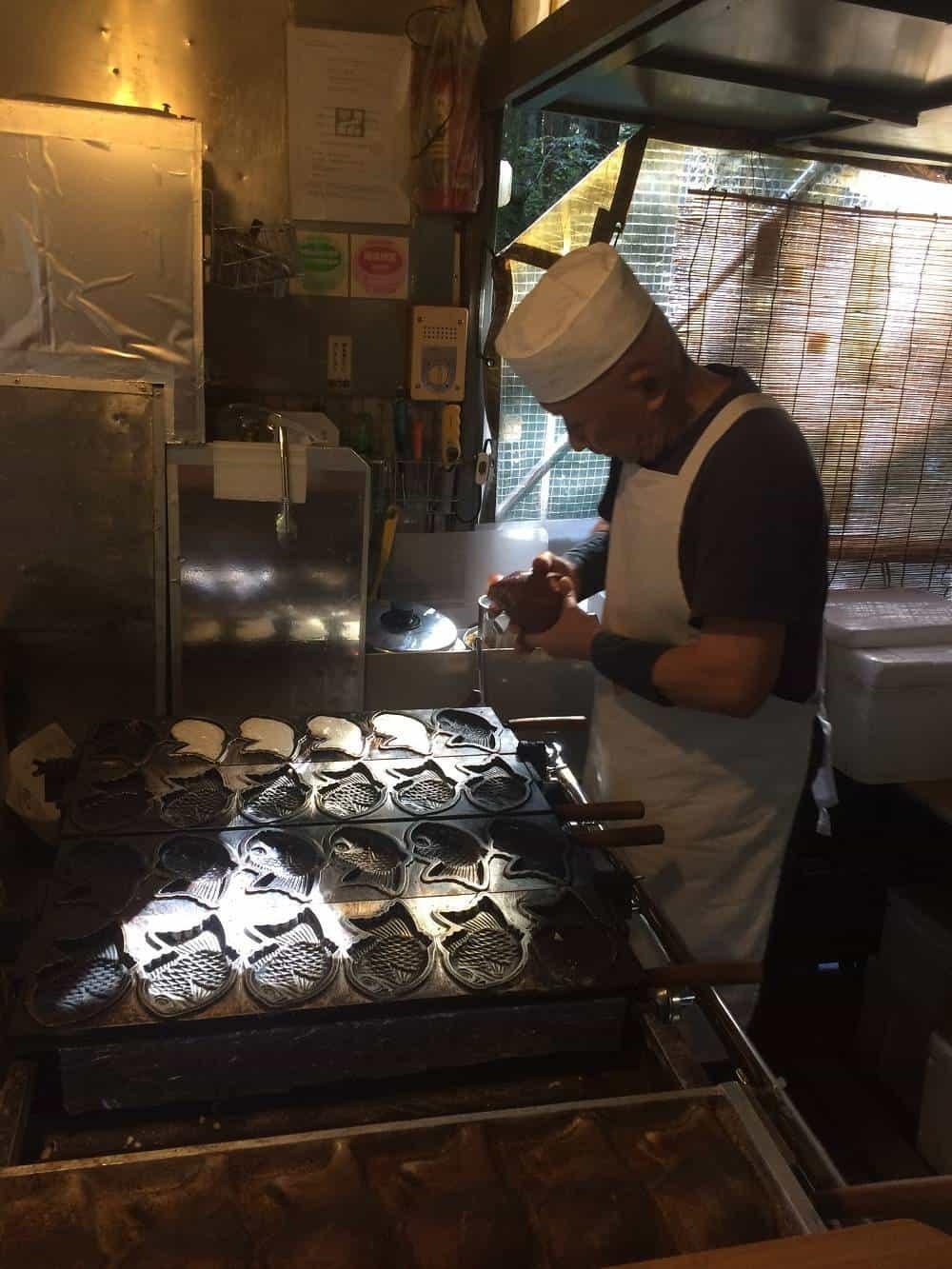 Making Taiyaki in Nikko Japan