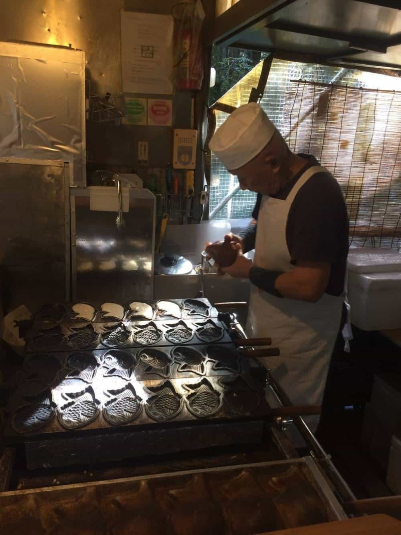 Making Taiyaki in Nikko Japan