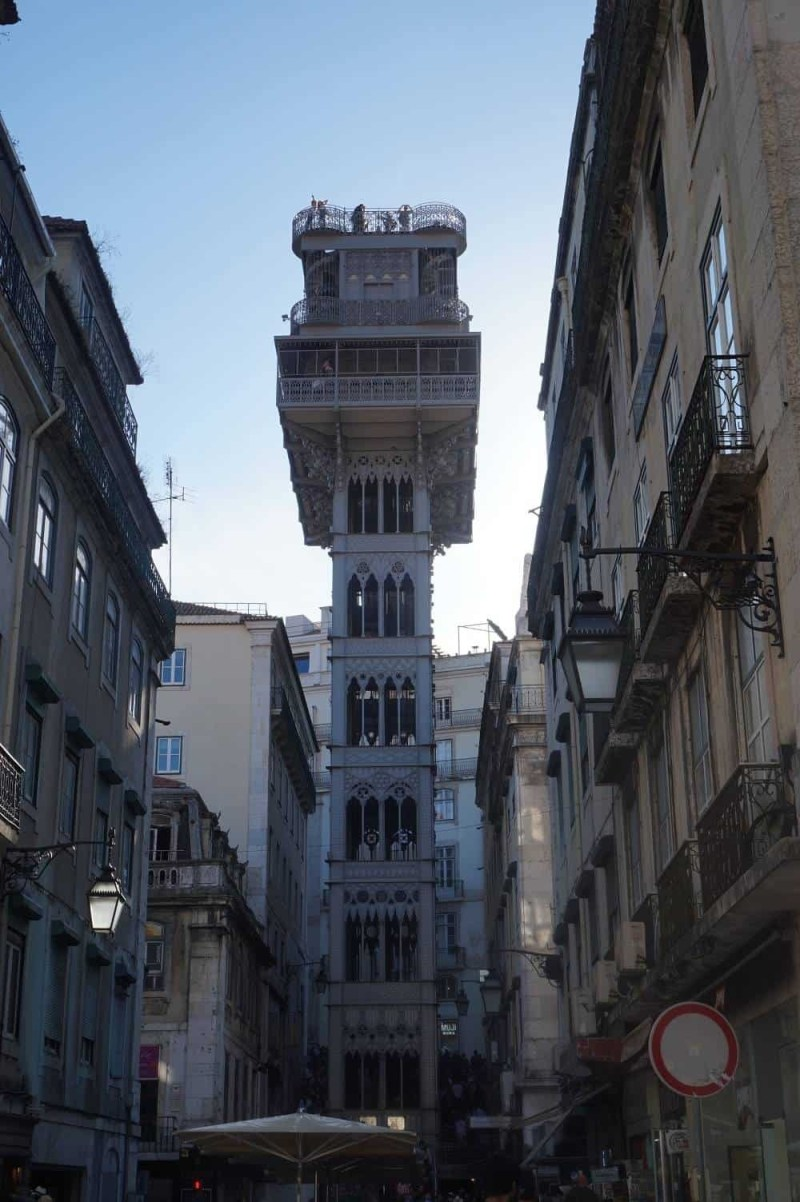 Santa Justa lift in Lisbon