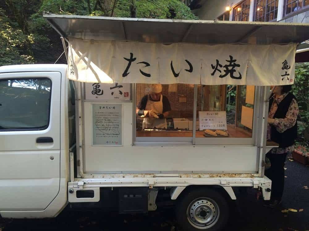 Taiyaki vendor in Nikko Japan
