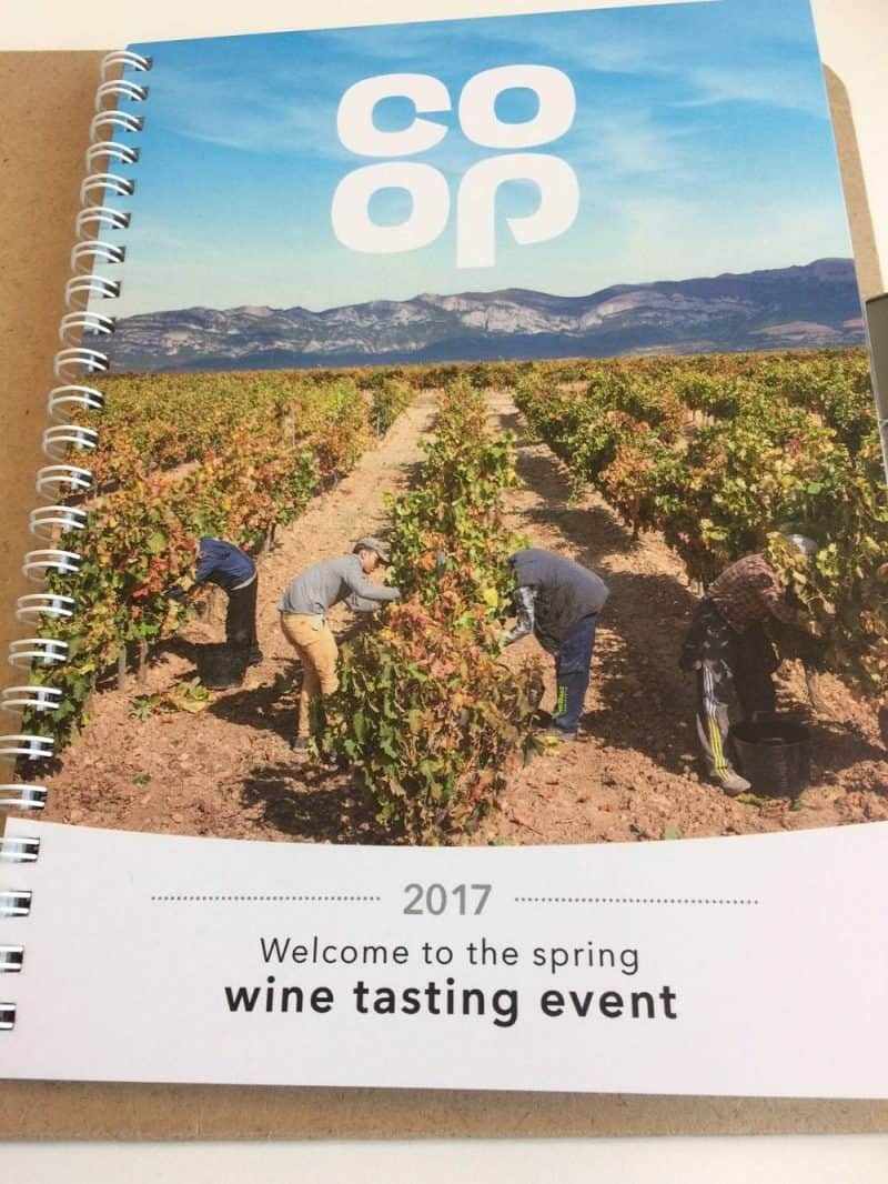 Co-op wine tasting event