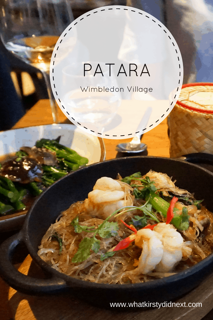 A review of Thai restaurant Patara in Wimbledon Village